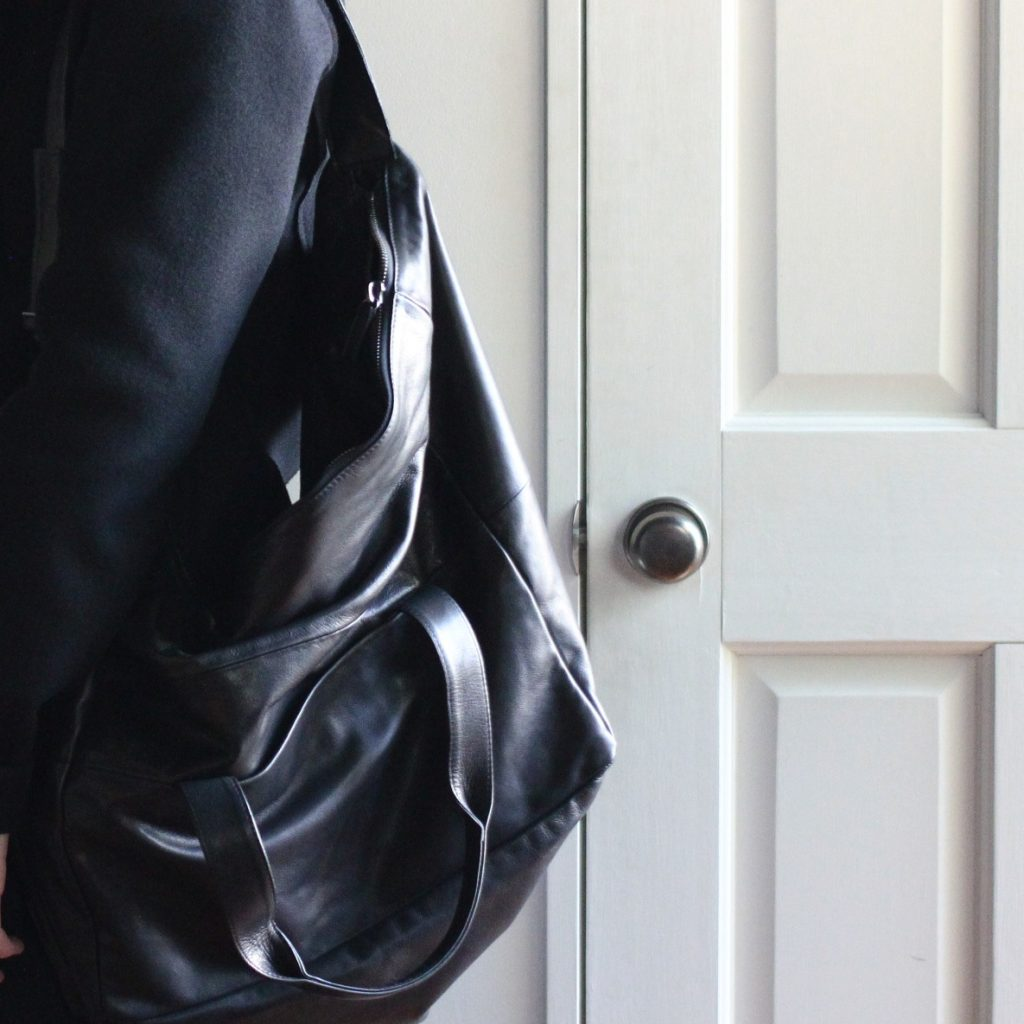 ANN DEMEULEMEESTER  2way Leather Bag