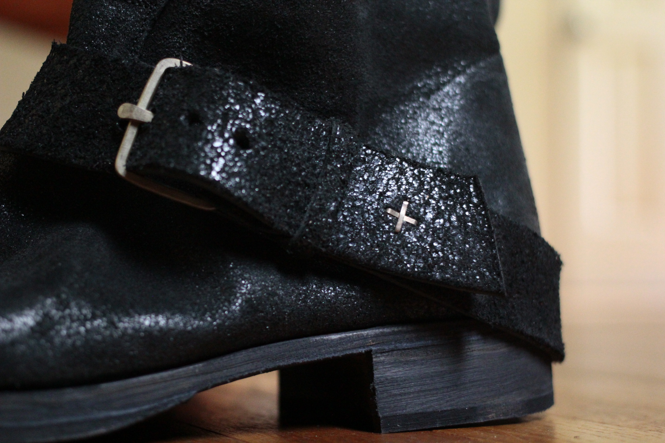 m.a+  tall buckle boots