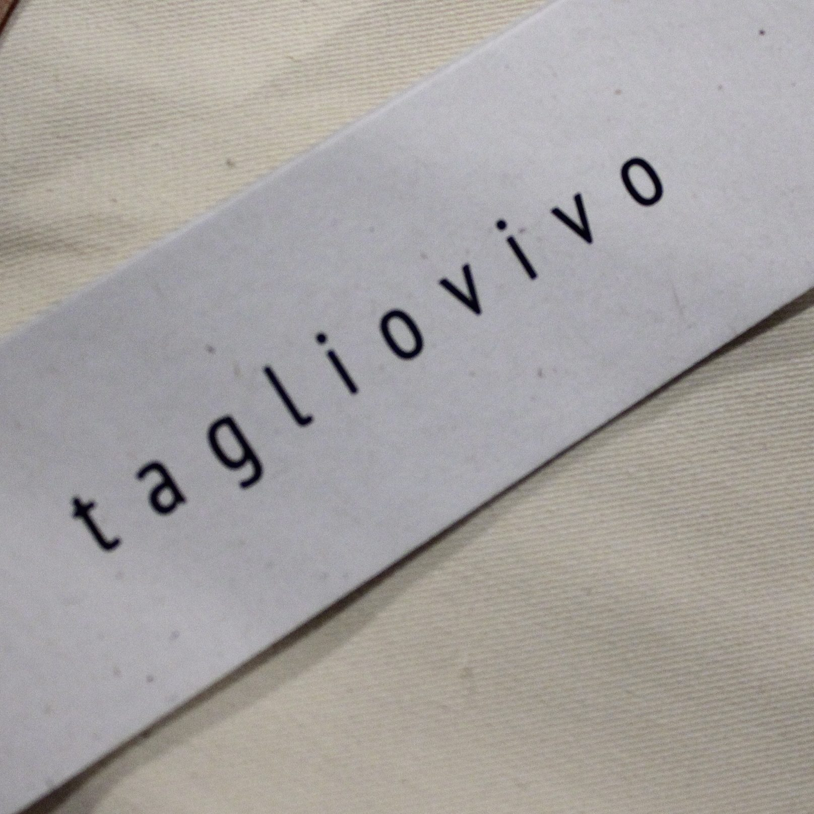 Tagliovivo  2017S/S On-Line START!!