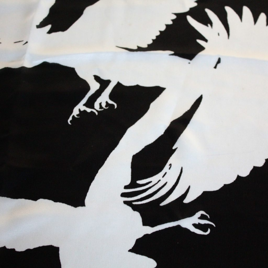 ANN DEMEULEMEESTER  SCARF SILK FLYING BIRDS