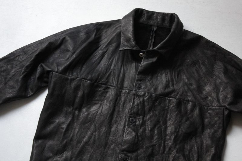 m.a+  washable leather shirt