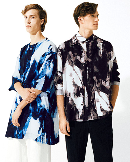 ISSEY MIYAKE MEN  ABSTRACT SHIRT