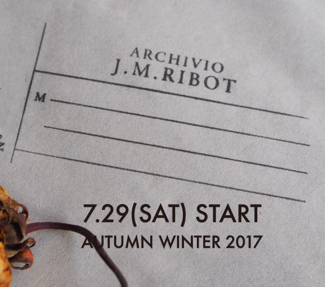 "NEW BRAND""ARCIVIO J.M.Ribot""  07.29 START!!"