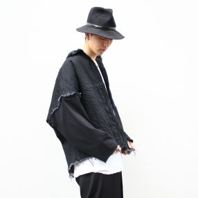 B YOHJI YAMAMOYO Cut-Off Denim Jacket