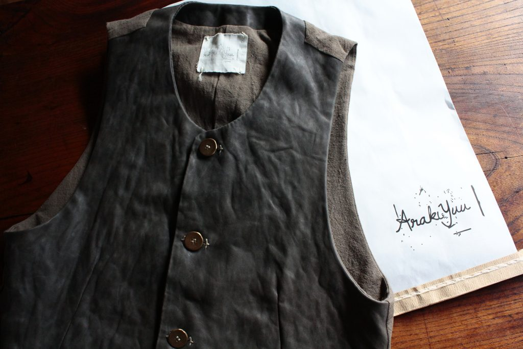 ARAKI YUU Round Neck Leather Vest