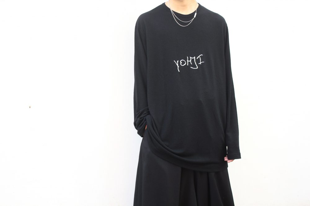 YOHJI YAMAMO Embroidered Logo L/S