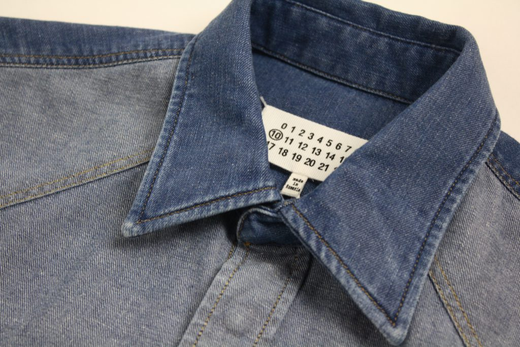 MAISON MARGIELA Stone Washed Bleach Denim Shirt