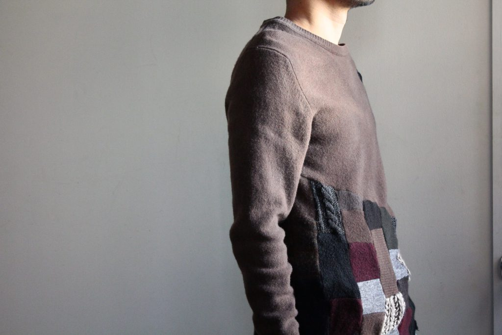 Geoffrey B.Small Patch Work Crew Neck Sweater