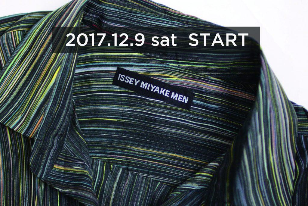 ISSEY MIYAKE MEN  18S/S 12.9 START!!