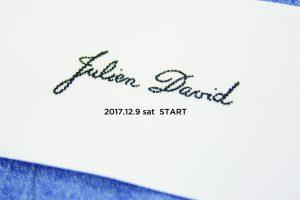 "NEW BRAND ""JULIEN DAVID"" 12.9 store release!!"