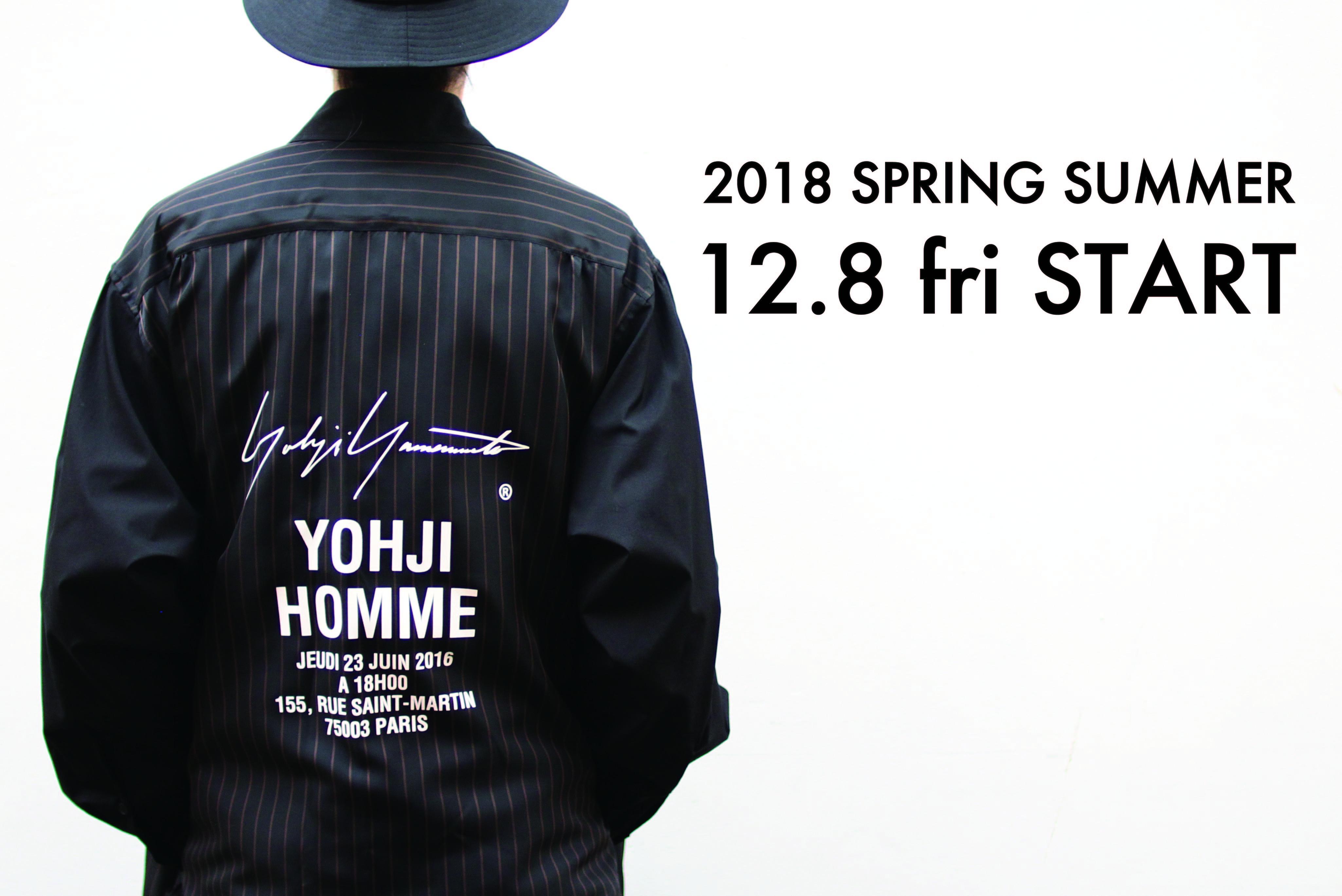 12/8(Fri)  YOHJI YAMAMOTO 18S/S START!!!