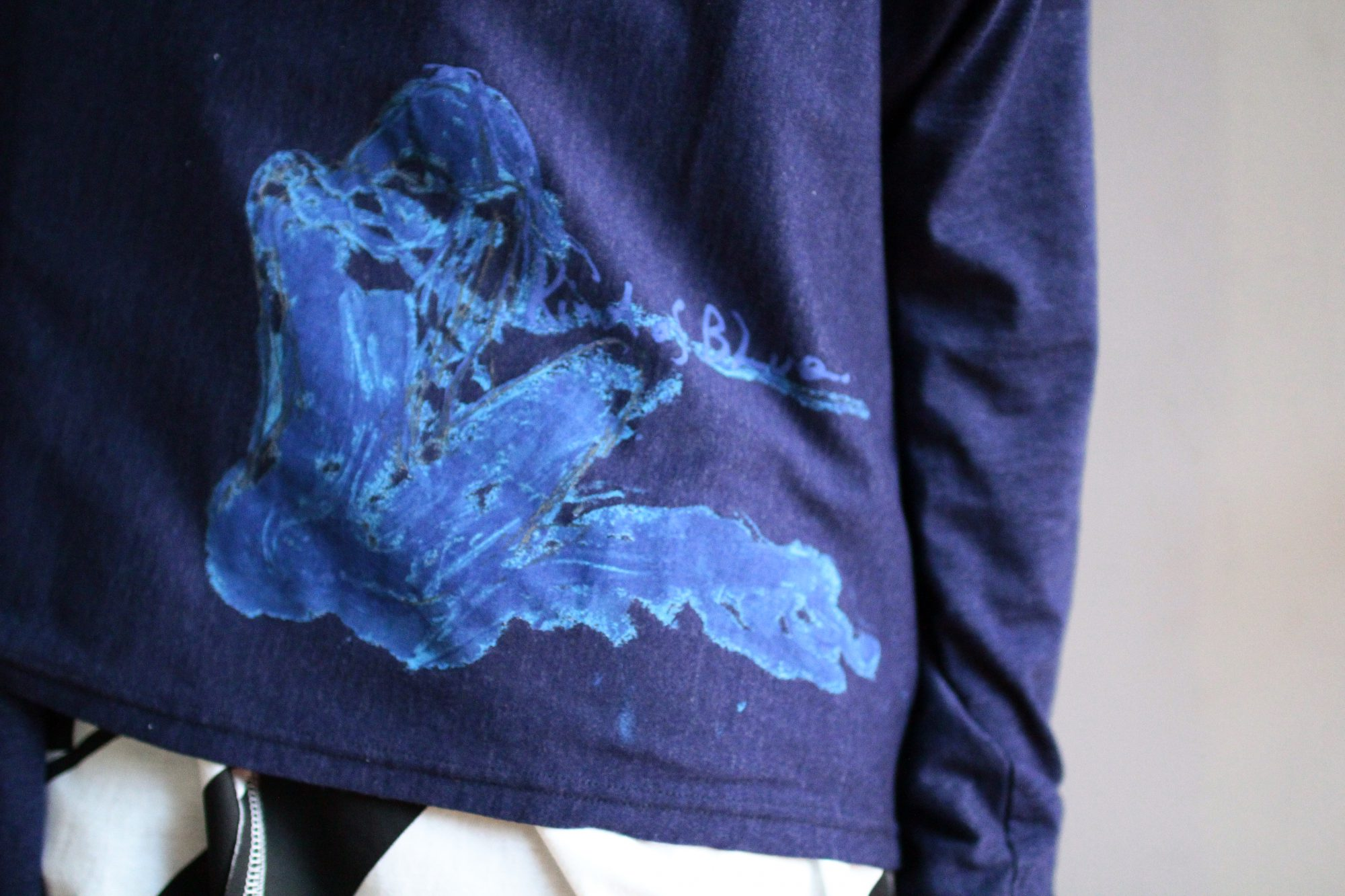 YOHJI YAMAMOTO Super Blue Watercolor PT Cardigan