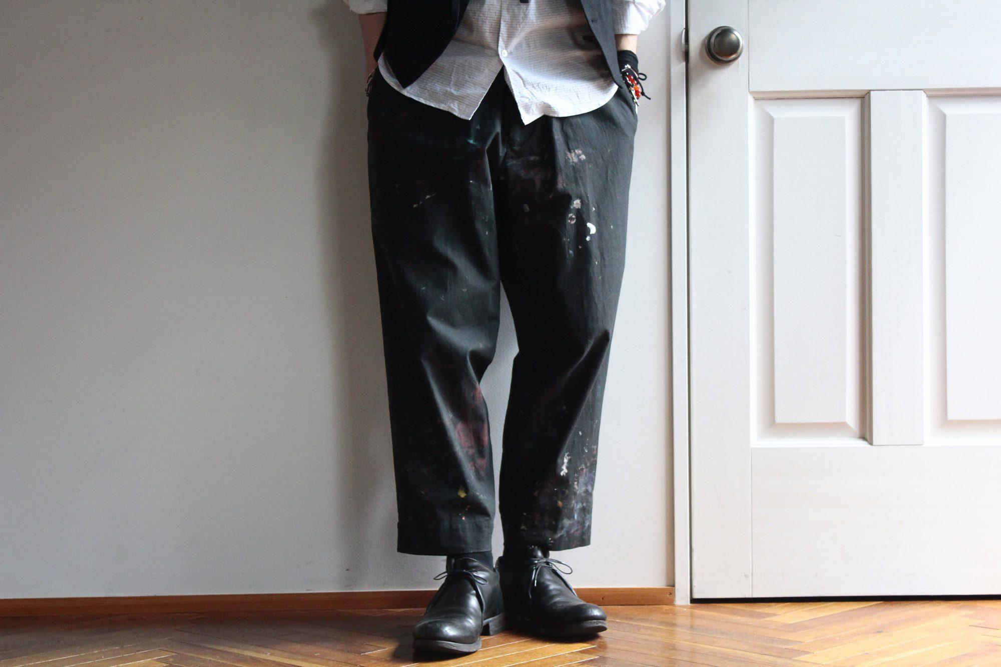 YOHJI YAMAMOTO Flap Paint Pants