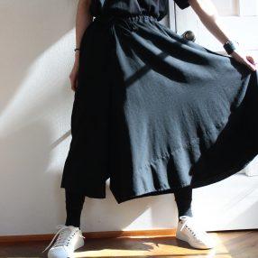 B YOHJI YAMAMOTO Zigzag Unbalance Pants