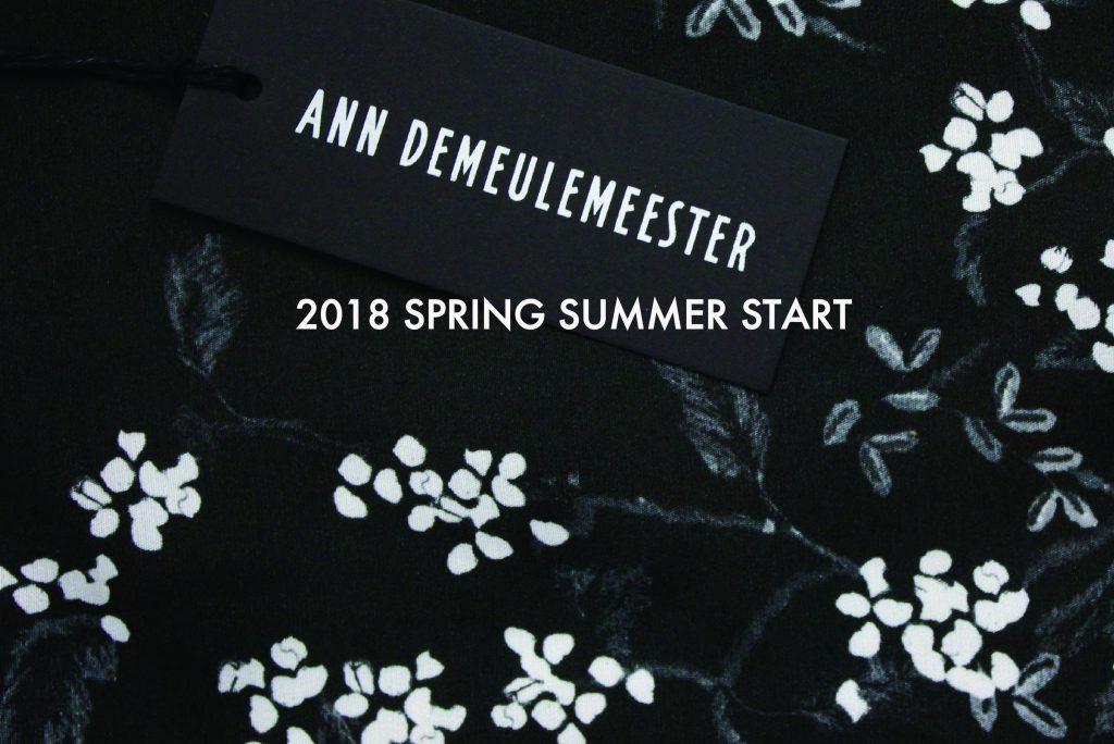 ANN DEMEULEMEESTER  2018SPRING&SUMMER START!!