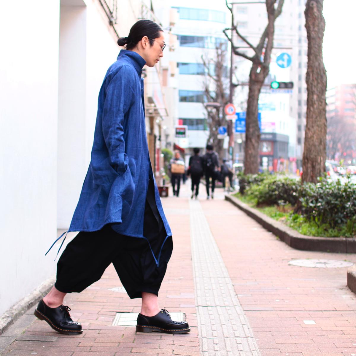 ANN DEMEULEMEESTER Linen Shirt Coat