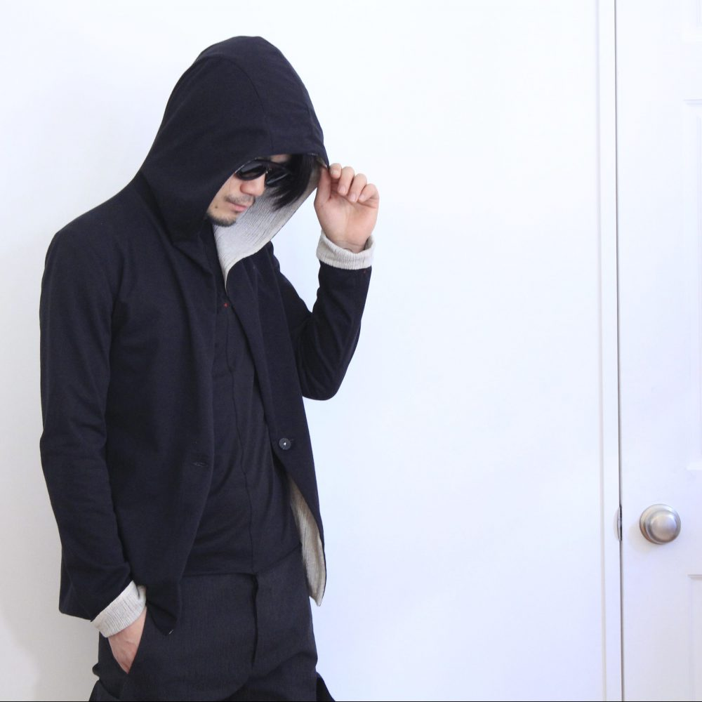 m.a+ 1 button hooded reversible jacket