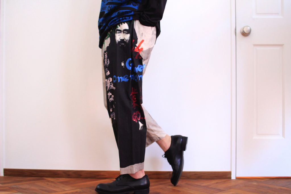 YOHJI YAMAMOTO Portrait Print Pants