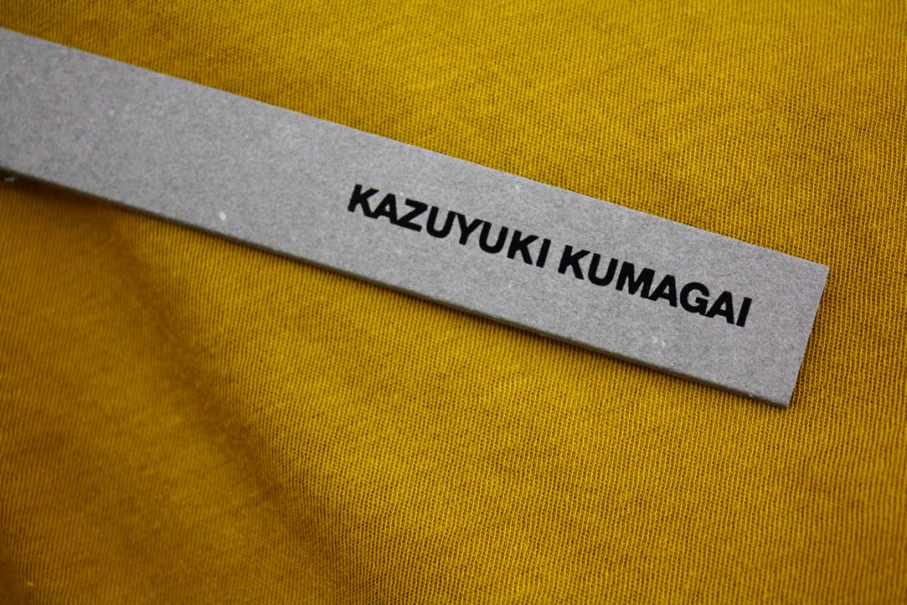KAZUYUKI KUMAGAI New Delivery ONLINE UP