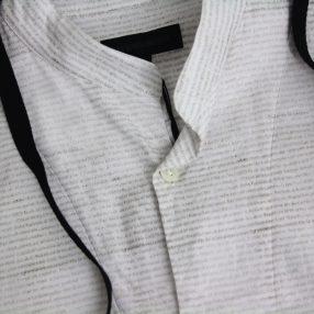 ANN DEMEULEMEESTER Ribbon Letter Shirt