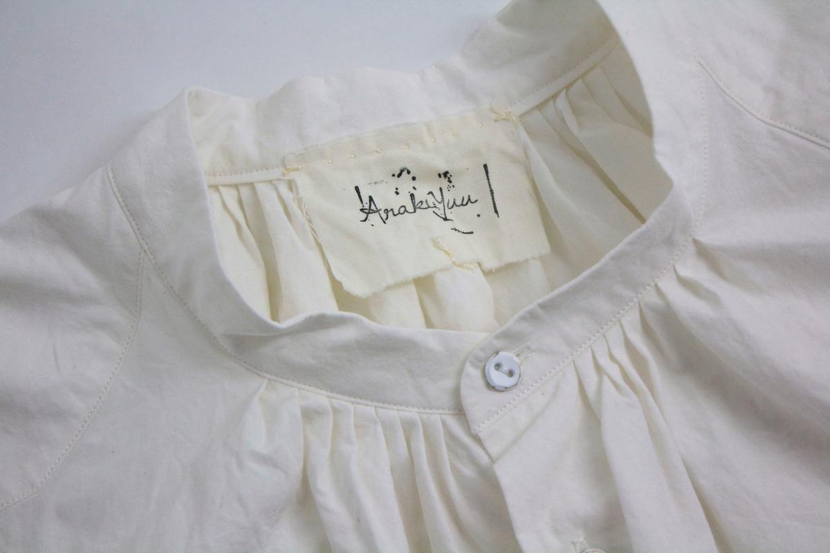 ARAKI YUU Band Collar Long Shirt