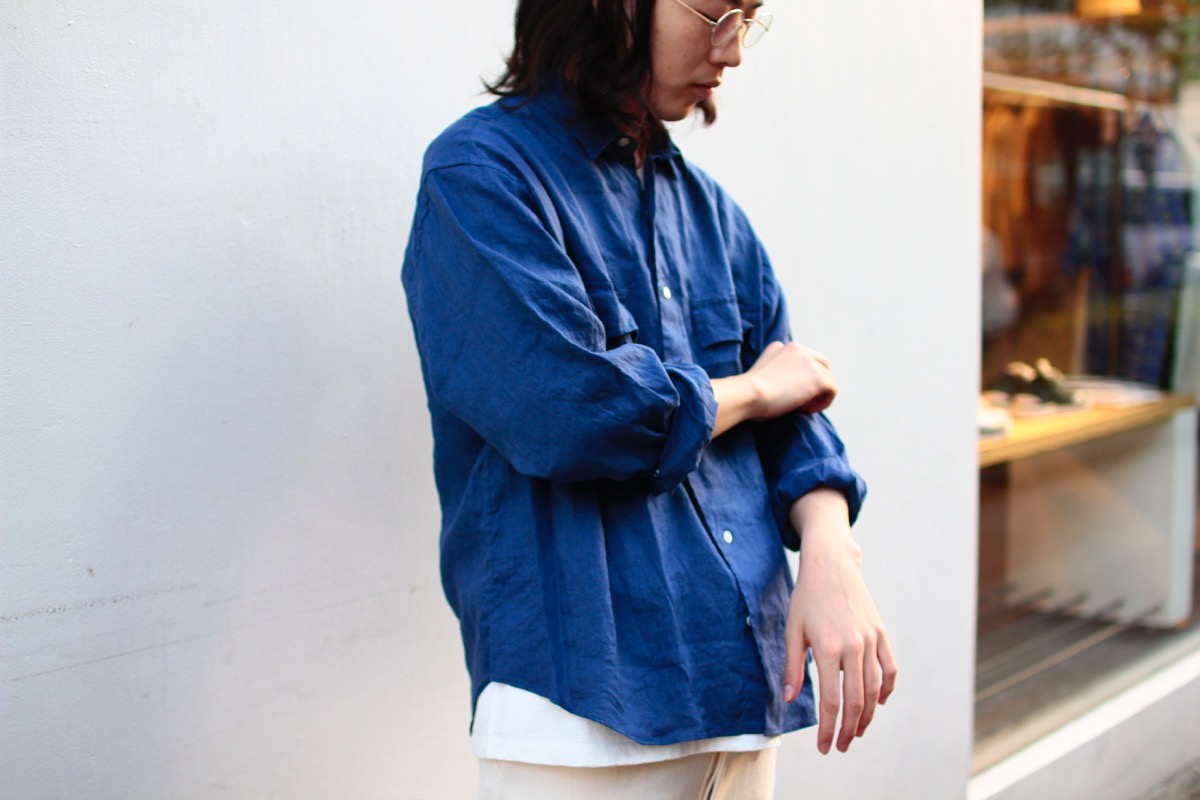Porter Classic LINEN ROLL UP SHIRT