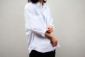Porter Classic COTTON ROLL UP SHIRT