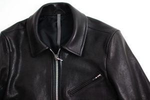 KAZUYUKI KUMAGAI Indian Lamb Leather Single Jacket