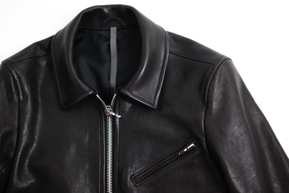 KAZUYUKI KUMAGAI Indian Lamb Leather Single Jacket