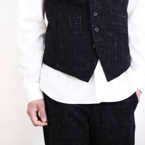 KAZUYUKI KUMAGAI  Kasuri Vest & Pants