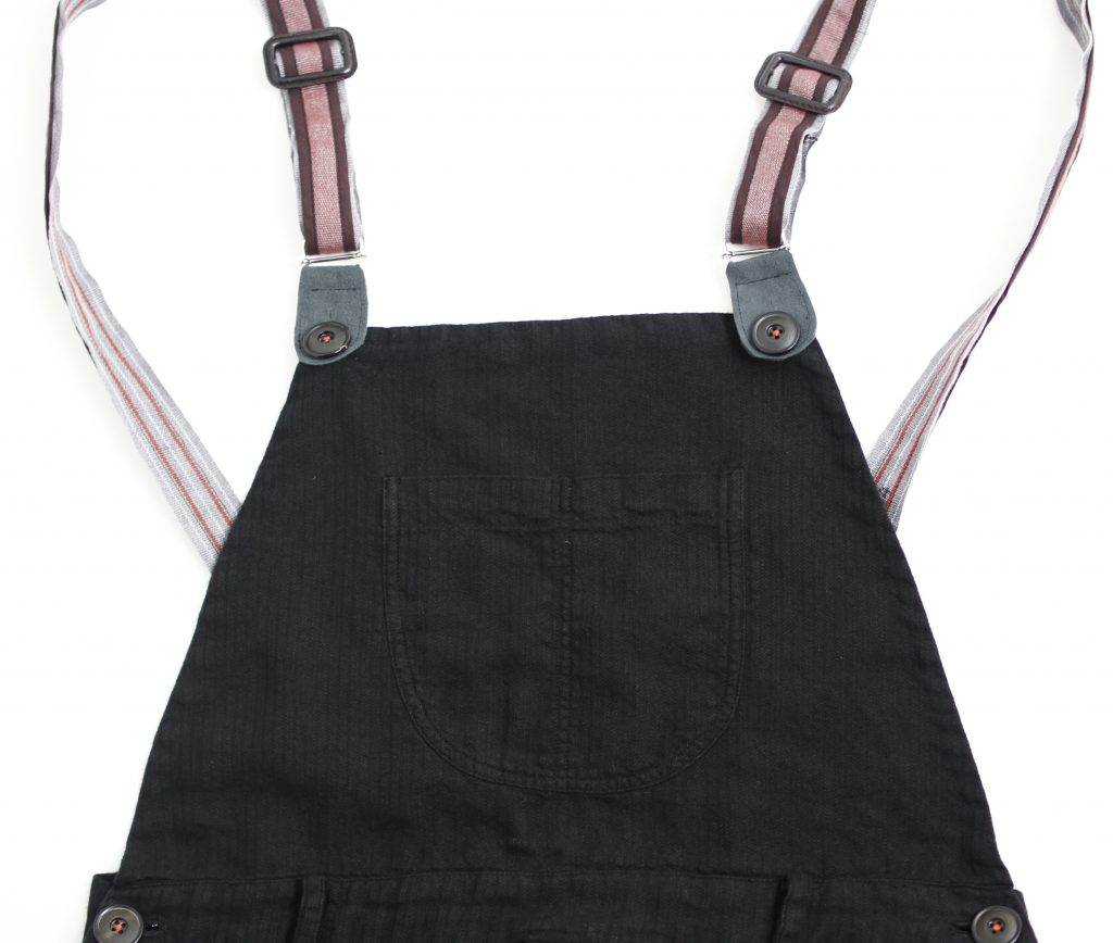 Geoffrey B.Small  angler's patch chest pocket suspenders overall