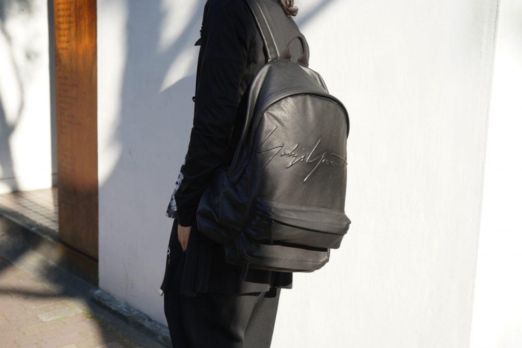 YOHJI YAMAMOTO Leather Back Pack