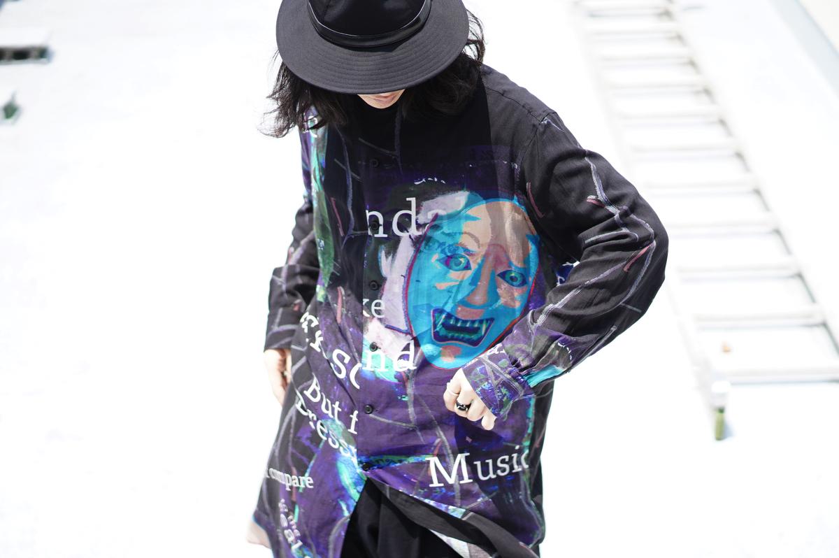 YOHJI YAMAMOTO【BLACK Scandal】Deformation Collar Shirt