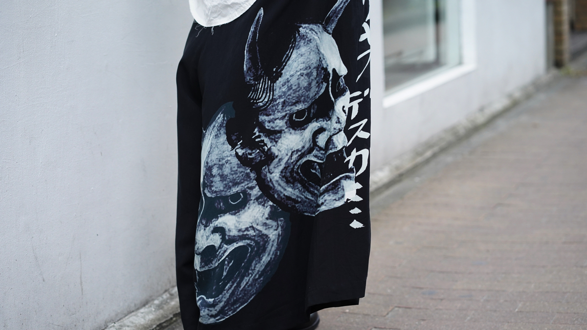 YOHJI YAMAMOTO【BLACK Scandal】Wisdom Flared Pants