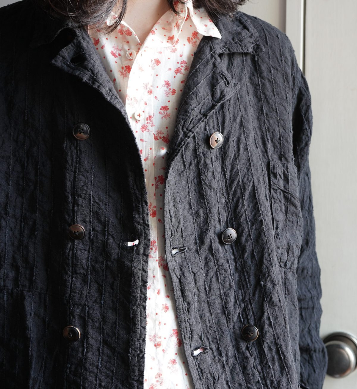 Geoffrey B.Small  double-breasted 10-button 1940's French work jacket