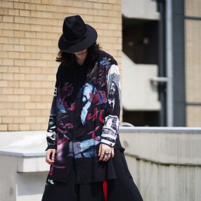 YOHJI YAMAMOTO【BLACK Scandal】Asymmetry Collar Shirt