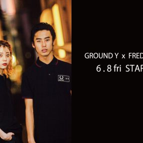 Ground Y ☓ FRED PERRY 2018SS Collection  6.8(Fri) release