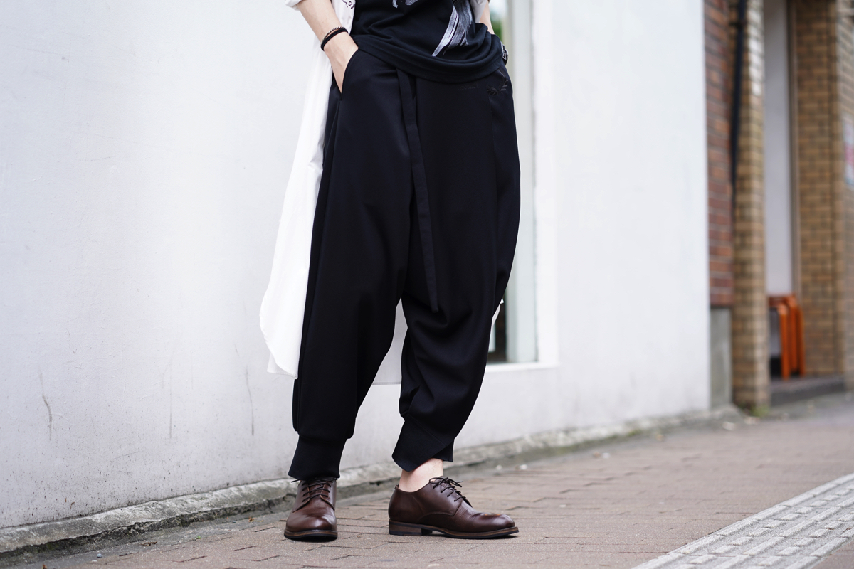 Ground Y × FRED PERRY Wrap Sarouel Rib Pants