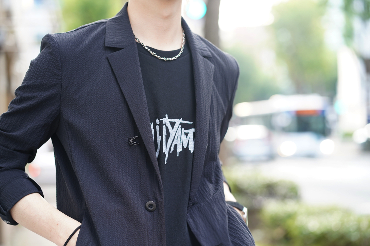 KAZUYUKI KUMAGAI Stretch Seersucker Jacket