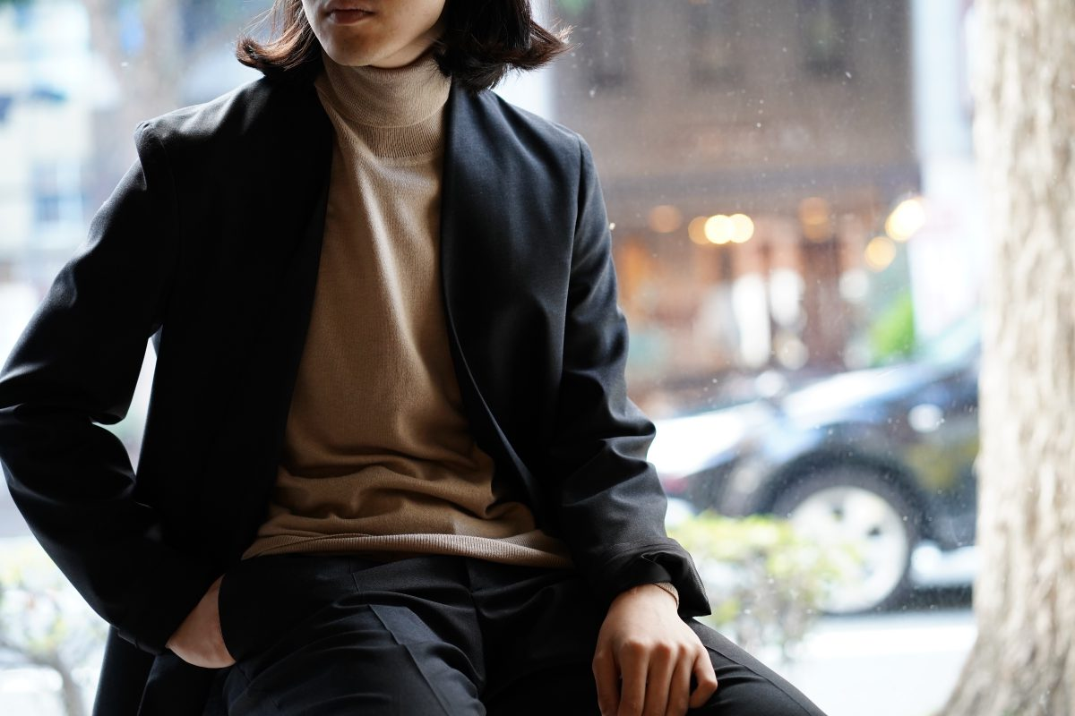 MAISON MARGIELA  Elbow Patch Turtleneck Knit