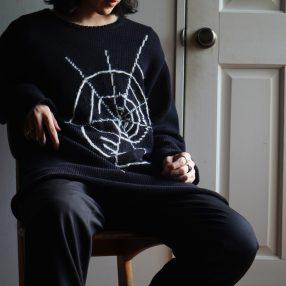 YOHJI YAMAMOTO BLACK Scandal Spiderweb Knit