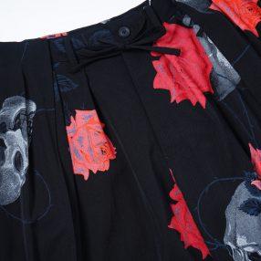 YOHJI YAMAMOTO LIMITED Scull&Rose Wrap Balloon Pants 9.22 Drop!!  vol,1
