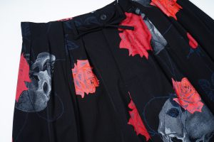 YOHJI YAMAMOTO LIMITED Scull&Rose Wrap Balloon Pants 9.22 Drop!!