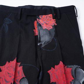 YOHJI YAMAMOTO LIMITED Scull&Rose Zip Pants 9.22 Drop!!