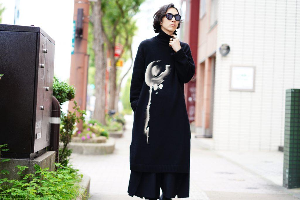 YOHJI YAMAMOTO Women Turtle Neck Long Knit