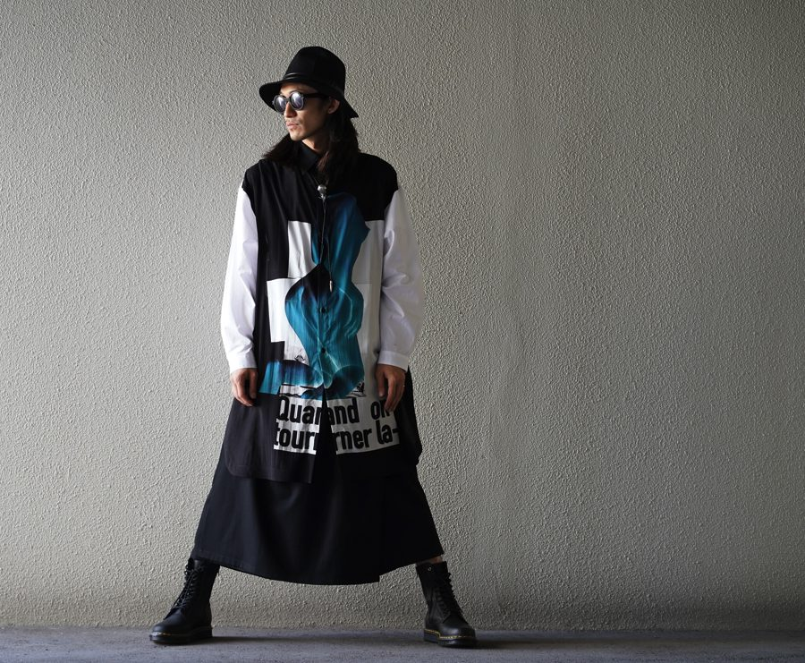 YOHJI YAMAMOTO 【BLACK Scandal】Front Nude Shirt A