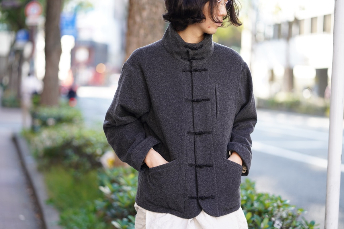 PORTER CLASSIC  Cashmere Chinese Jacket