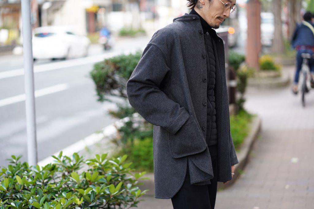 PORTER CLASSIC Cashmere Stand Collar Shirt Jacket
