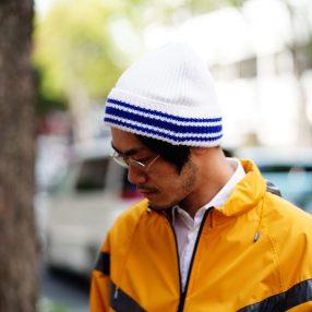 Maison Margiela Rib Knit Stripe Cap
