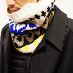 Maison Margiela  Seamless Jacquard Neck Warmer